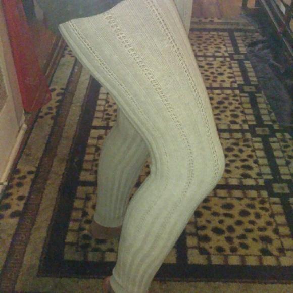 207703b256c53 H&M Pants | Womens Knit Ribbed Sweater Leggings Size Large | Poshmark